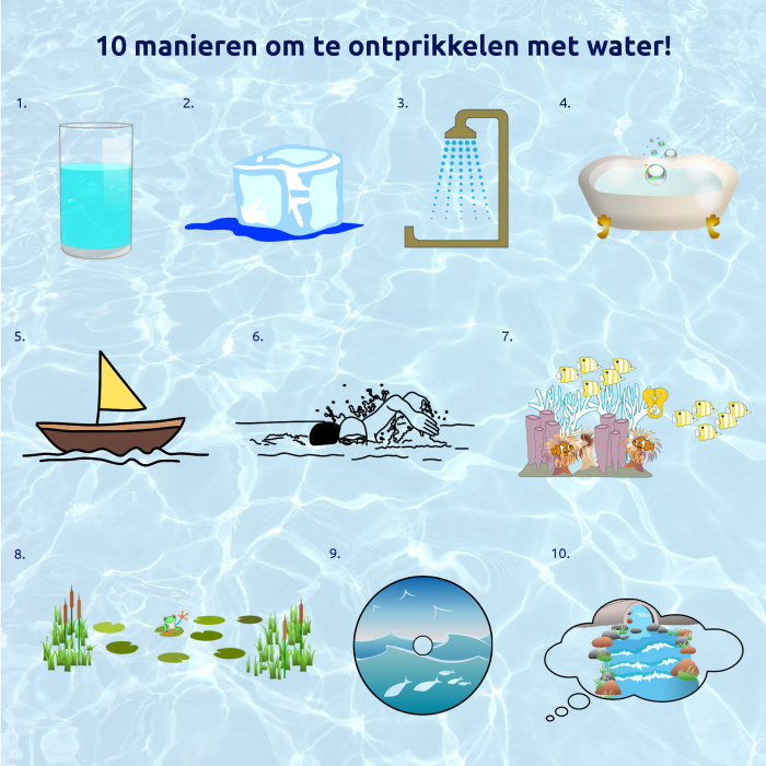 10 manieren om te ontprikkelen met water